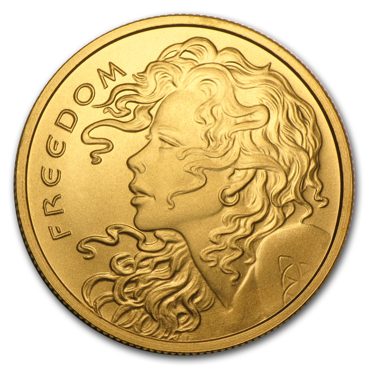 2015 1 oz Gold Round - Freedom Girl (w/Box & COA)